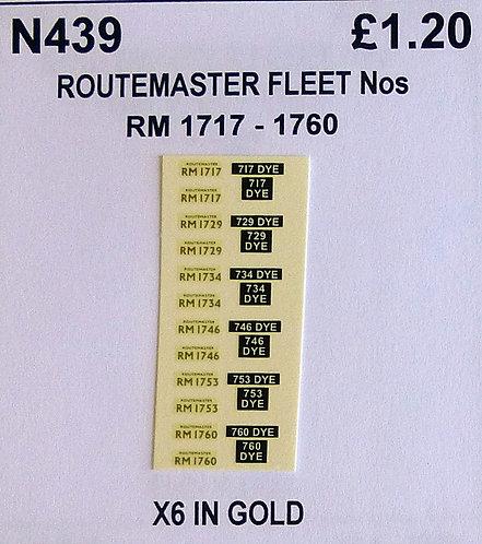Gold RM 1717, 1729, 1734, 1746, 1753, 1760