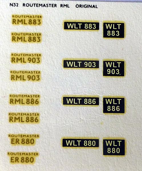 Gold RML883, RML903, RML886, ER880