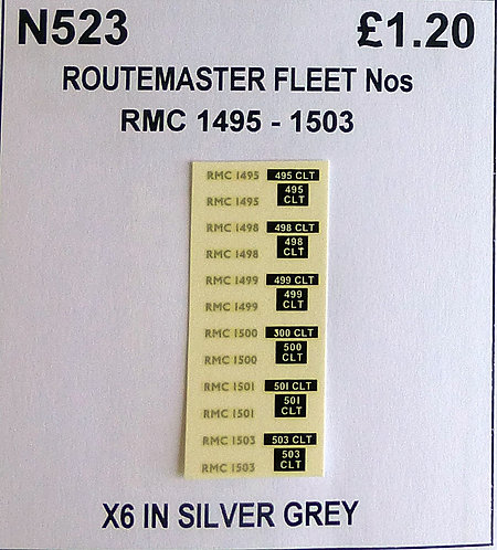 Silver RMC 1495, 1498, 1499, 1500, 1501, 1503