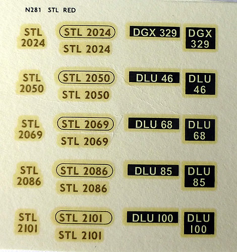Gold STL2024, STL2050, STL2069, STL2086, STL2101