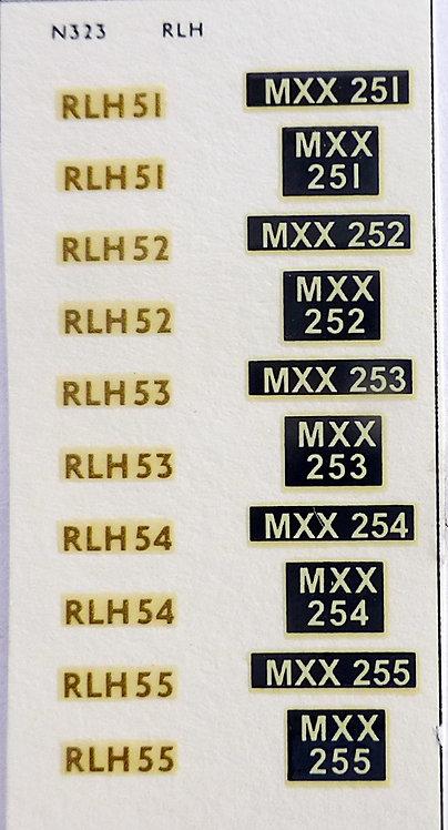 Gold RLH51, RLH52, RLH53, RLH54, RLH55