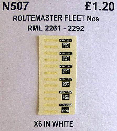 White RML 2251, 2267, 2274, 2285, 2291, 2292