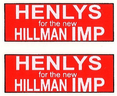 HENLYS IMP REAR ADVERT
