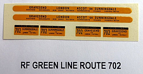 Green Line RF Route 702 (1960-70's)