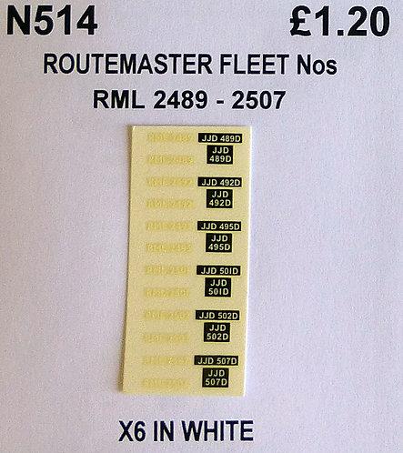 White RML 2489, 2492, 2495, 2501, 2503, 2507