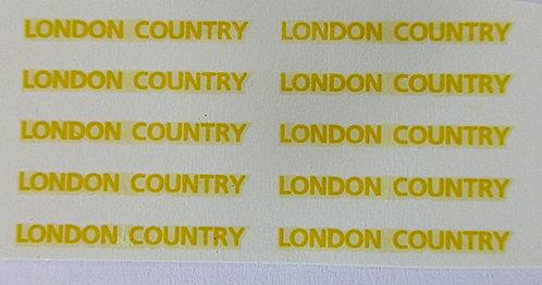 Fleet Names  London Country Yellow