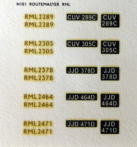 Gold RML2289, RML2305, RML2378, RML2464, RML2471
