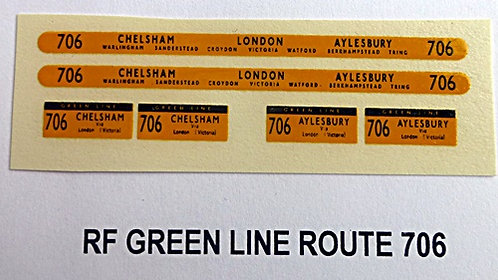 Green Line RF Route 706 (1960-70's)