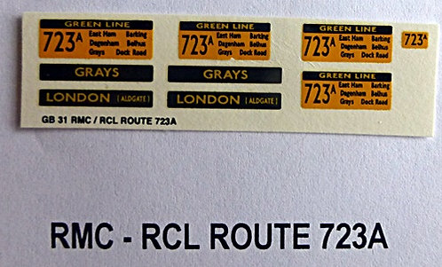 RMC/RCL Green Line Blinds Route 723A