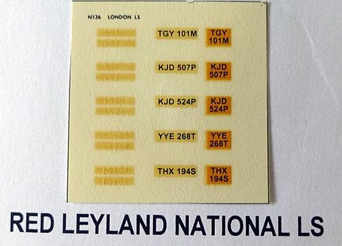 White LS1, LS7, LS24, LS194, LS268.