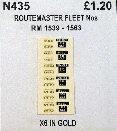 Gold RM 1539, 1541, 1544, 1550, 1556, 1563