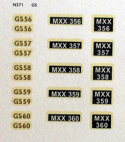 Gold GS56, GS57, GS58, GS59, GS60