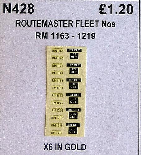 Gold RM 1163, 1177, 1183, 1193, 1206, 1219