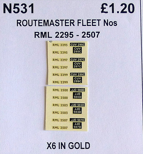 Gold RML 2295, 2297, 2299, 2500, 2503, 2507