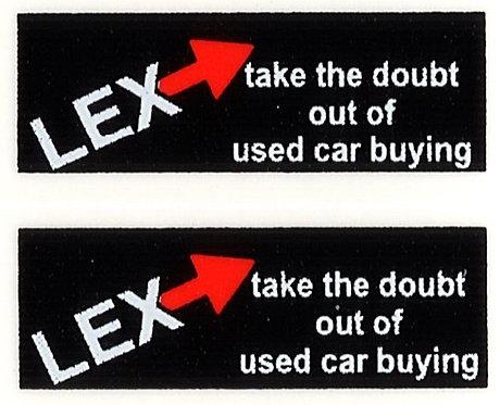 LEX REAR ADVERT