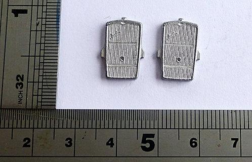 White Metal Bus Radiators