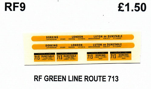Green Line RF Route 713 (1960-70's)