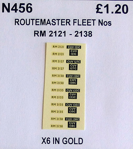 Gold RM 2121, 2127, 2130, 2133, 2135, 2138