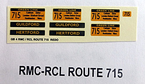 RMC/RCL Green Line Blinds Route 715
