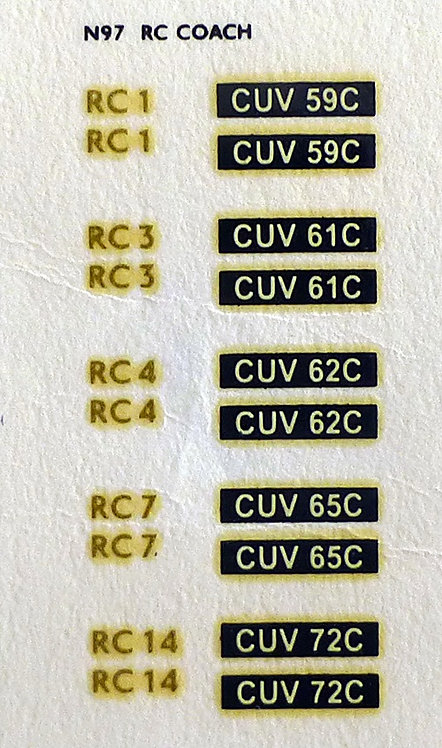 Gold RC1, RC3, RC4, RC7, RC14