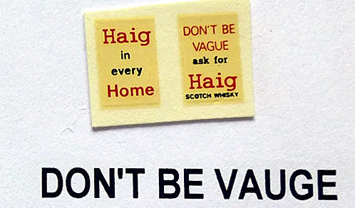 Haig Don't Be Vague