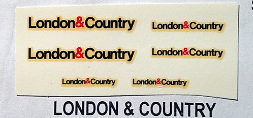 Fleet Name Sets  London & Country