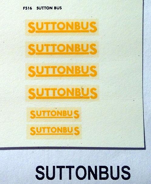 Fleet Name Sets  Suttonbus