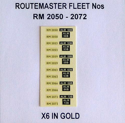 Gold RM 2050, 2053, 2059, 2063, 2066, 2072