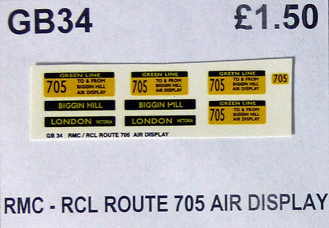 RMC/RCL Green Line Blinds Route 705