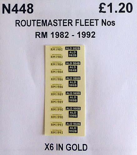 Gold RM 1982, 1984, 1986, 1989,1990, 1992