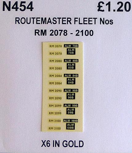 Gold RM 2078, 2080, 2084, 2090, 2099, 2100