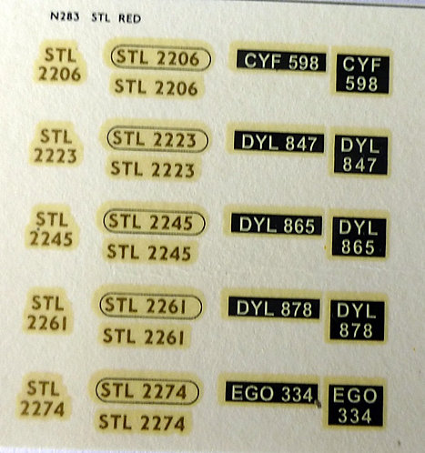 Gold STL2206, STL2223, STL2245, STL2261, STL2274