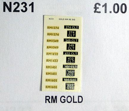 Gold RM1274, RM1349, RM1432, RM1451, RM1605