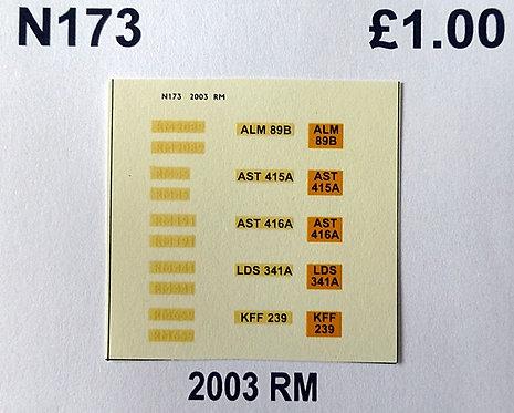 White RM45, RM191, RM441, RM659, RM2089