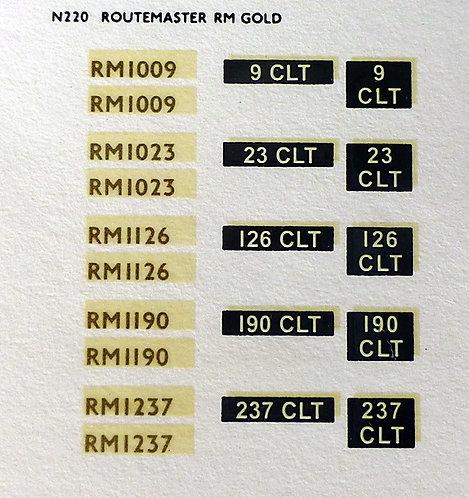 Gold RM1009, RM1023, RM1126, RM1190, RM1237