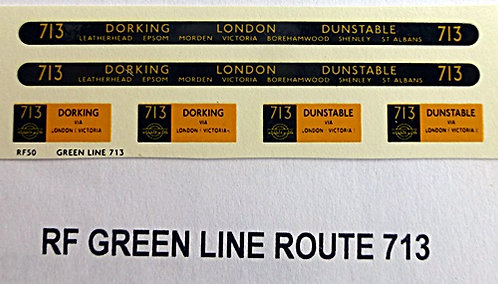 Green Line RF Route 713 (1950's)