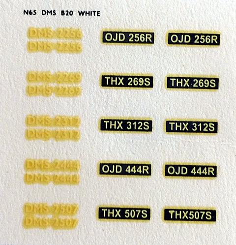 White DMS2256, DMS2269, DMS2312, DMS2444, DMS2507