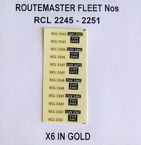 Gold RCL 2245, 2246, 2247, 2248, 2249, 2251