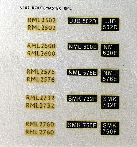 Gold RML2502, RML2576, RML2600, RML2732, RML2760