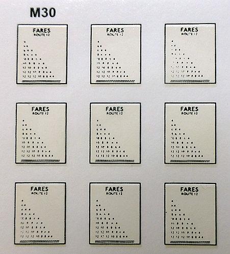 Misc:  Fare Charts