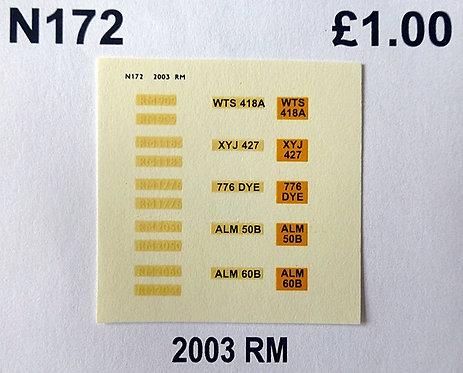 White RM909, RM1185, RM1776, RM2050, RM2060