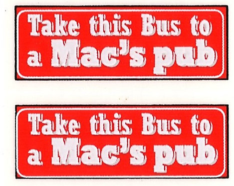 MAC'S PUB REAR ADVERT