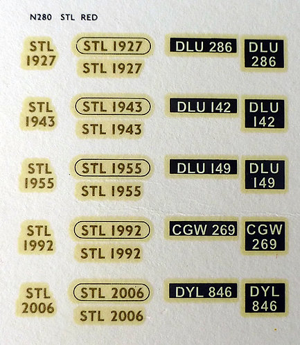 Gold STL1927, STL1943, STL1955, STL1992, STL2006