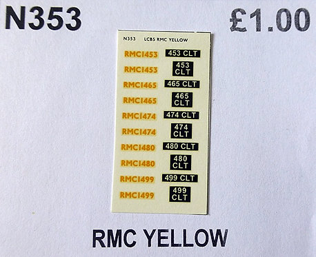 Yellow RMC1463, RMC1465, RMC1474, RMC1480, RMC1499