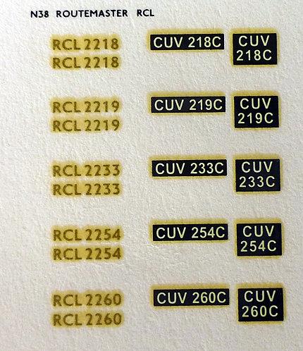 Gold RCL2218, RCL2219, RCL2233, RCL2254, RCL2260