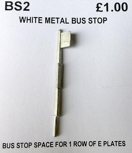 White Metal Bus Stop