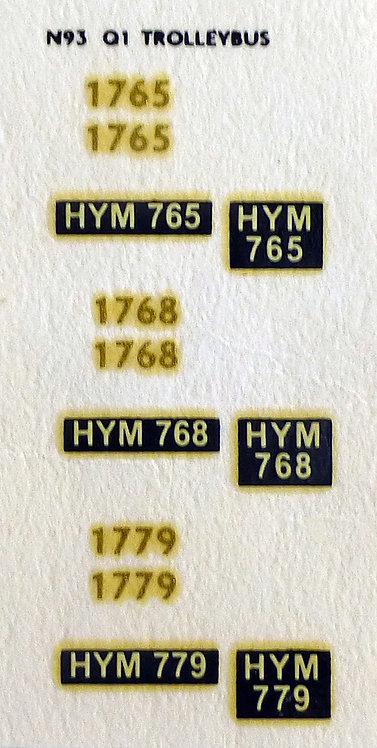 Gold Trolleybus 1765, 1768, 1779