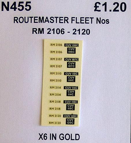 Gold RM 2106, 2107, 2110, 2114, 2118, 2120