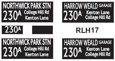NEW RLH Blinds Route 230A