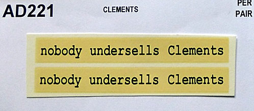 Nobody Undersells Clements